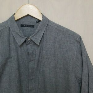 Theory Closed Button Closure Shirt L